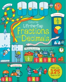 Lift-The-Flap Fractions and Decimals, Board book Book