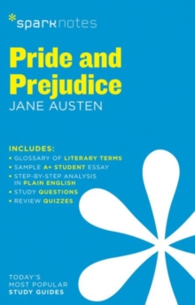 Pride and Prejudice SparkNotes Literature Guide, Paperback / softback Book