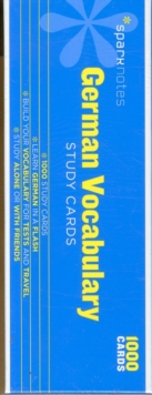 German Vocabulary SparkNotes Study Cards, Cards Book