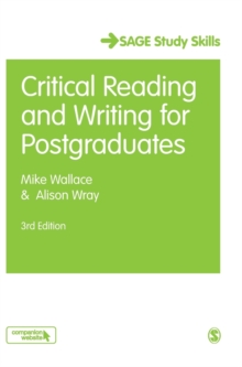 Critical Reading and Writing for Postgraduates, Hardback Book