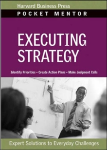 Executing Strategy, Paperback / softback Book