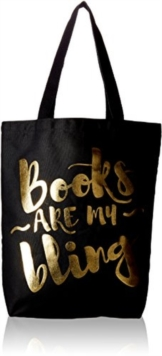 Books Are My Bling Tote. Black, Other printed item Book