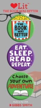 The Book was Better 3 Badge Set : LoveLit Button Assortment, Other printed item Book