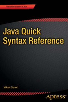 Java Quick Syntax Reference, Paperback Book