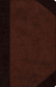 ESV Large Print Thinline Reference Bible, Leather / fine binding Book