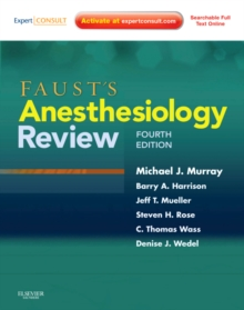 Faust's Anesthesiology Review, Paperback Book