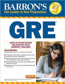 Barron's GRE, 22nd Edition, Paperback Book