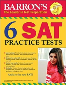 Barron's 6 SAT Practice Tests, Paperback / softback Book