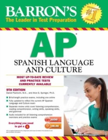 Barron's AP Spanish Language and Culture with MP3 CD & CD-ROM, 9th Edition, Mixed media product Book