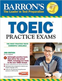 Barron's Toeic Practice Exams with MP3 CD, 3rd Edition, Mixed media product Book