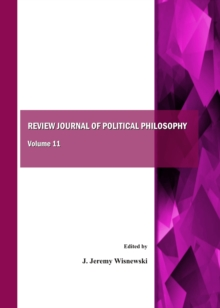 None Review Journal of Political Philosophy Volume 11, PDF eBook