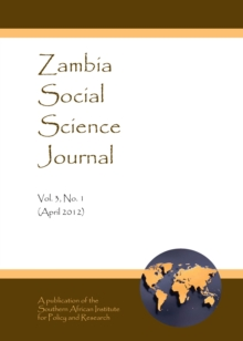 None Zambia Social Science Journal Vol. 3, No. 1 (April 2012), PDF eBook