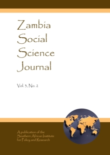 None Zambia Social Science Journal Vol. 3, No. 2, PDF eBook