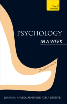 Psychology In A Week: Teach Yourself, Paperback / softback Book