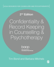 Confidentiality & Record Keeping in Counselling & Psychotherapy, Paperback Book