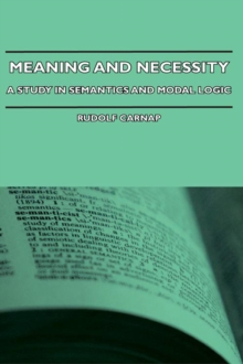 Meaning and Necessity - A Study in Semantics and Modal Logic, EPUB eBook