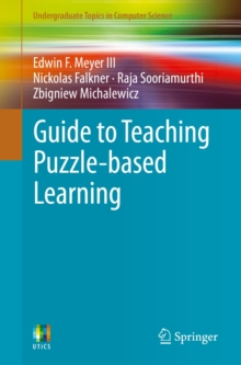 Guide to Teaching Puzzle-Based Learning, Paperback Book