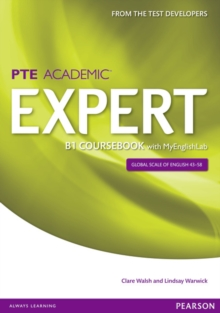 Expert Pearson Test of English Academic B1 Coursebook and MyEnglishLab Pack, Mixed media product Book
