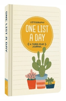 Listography: One List a Day : A Three-Year Journal, Notebook / blank book Book