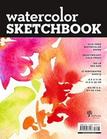Watercolor Sketchbook (Large Black Fliptop Spiral - Landscape), Hardback Book