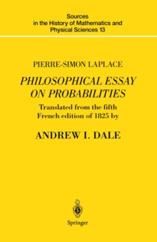a philosophical essay on probabilities pdf Chapter xl concerning theprobabilities oftesti-monies ii6 aphilosophical essay onprobabilities occur in the present case when thewitness does not.