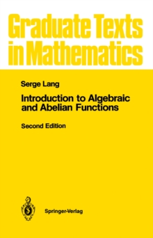 Introduction to Algebraic and Abelian Functions, PDF eBook