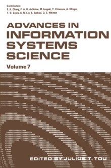 Advances in Information Systems Science : Volume 7, PDF eBook