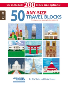 50 Any- Size Travel Quilt Blocks : Print Your Own Paper-Piecing Patterns!, Paperback / softback Book