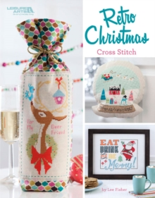 Retro Christmas Cross Stitch, Paperback Book