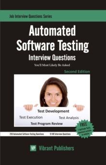 Automated Software Testing Interview Questions You'll Most Likely Be Asked, EPUB eBook