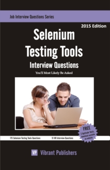 Selenium Testing Tools Interview Questions You'll Most Likely Be Asked, EPUB eBook