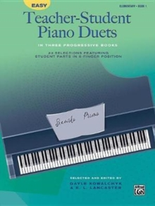 EASY TEACHERSTUDENT PIANO DUETS BOOK 1, Paperback Book