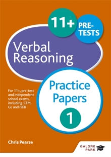 11+ Verbal Reasoning Practice Papers 1 : For 11+, Pre-Test and Independent School Exams Including CEM, GL and ISEB, Paperback Book