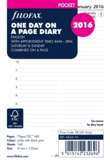 FILOFAX POCKET DAY PER PAGE APPOINTMENTS,  Book