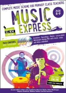 Music Express: Age 8-9 (Book + 3CDs + DVD-ROM) : Complete Music Scheme for Primary Class Teachers, Paperback Book