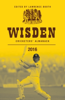 Wisden Cricketers' Almanack 2016, Hardback Book
