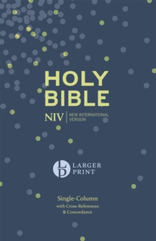 NIV Larger Print Compact Single Column Reference Bible : Hardback, Hardback Book
