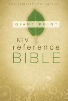 NIV Reference Bible, Giant Print Hardcover, Paperback Book
