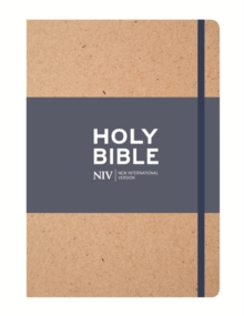 NIV Tan Single-Column Journalling Bible, Hardback Book