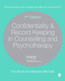Confidentiality & Record Keeping in Counselling & Psychotherapy, EPUB eBook