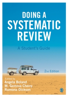 Doing a Systematic Review : A Student's Guide, Paperback Book
