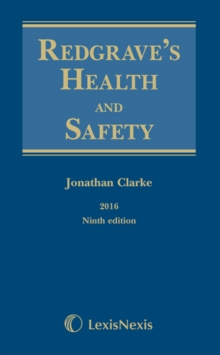 Redgrave's Health and Safety, Hardback Book