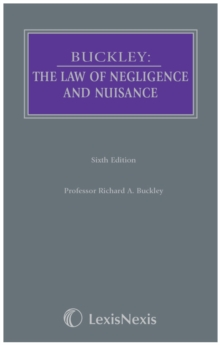 Buckley: the Law of Negligence and Nuisance, Hardback Book