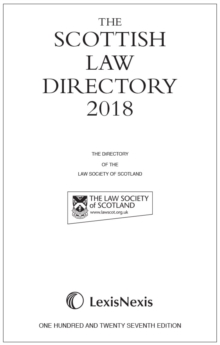 The Scottish Law Directory: The White Book 2018, Hardback Book