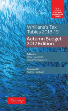 Whillans's Tax Tables 2018-19 (Budget edition), Paperback / softback Book