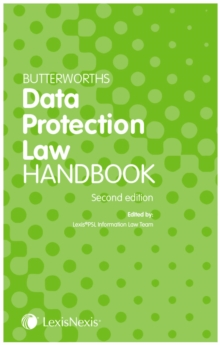 Butterworths Data Protection Law Handbook, Paperback / softback Book