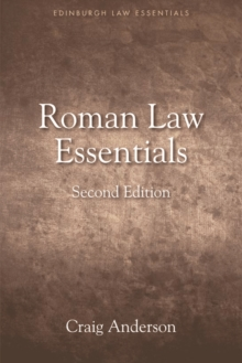 Roman Law Essentials, Hardback Book