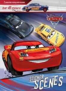 Disney Pixar Cars 3 Sticker Scenes : 2 Collectible Trading Cards Included, Paperback Book
