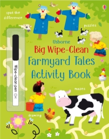 Big Wipe Clean Farmyard Tales Activity Book, Paperback Book