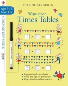 Wipe-Clean Times Tables 7-8, Paperback Book